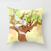 Concentration du Chene - Pillow - Illustration - Caroline Dewaele - cAro igano